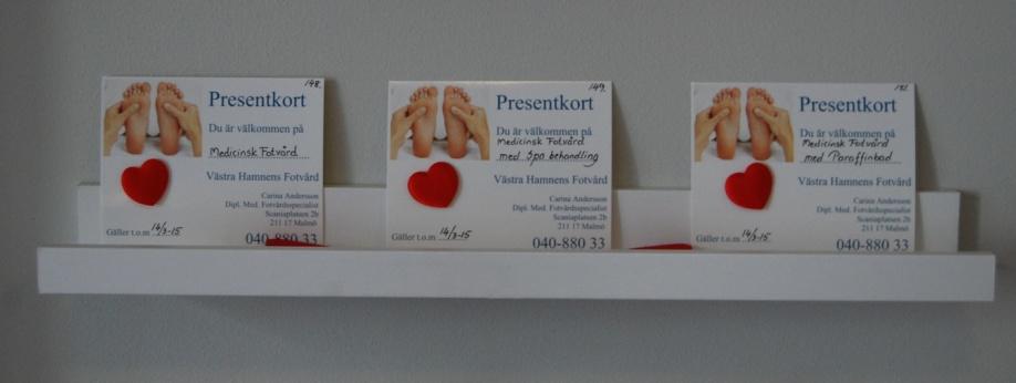 Ett presentkort är en perfekt present för alla åldrar!
